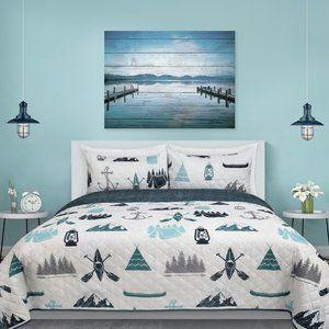 New 3-Piece Signature Quilt Bedding Set